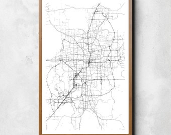 Map of Orlando, Orlando, Orlando art, Orlando map, Orlando print, Orlando decor, Orlando gift, Orlando art map, Orlando poster, Wedding Gift