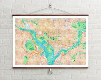 Map of D.C. | Washington D.C. | Washington D.C. Art | Washington D.C. Map | Washington D.C. Print | Washington D.C. Decor | D.C. Gift