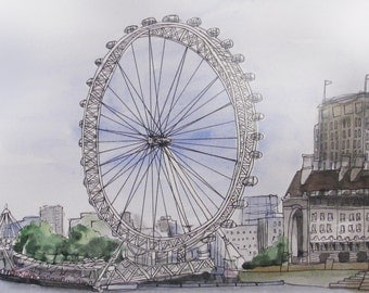 London Eye Illustration | Print