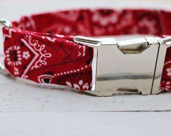 Red Bandana Dog Collar