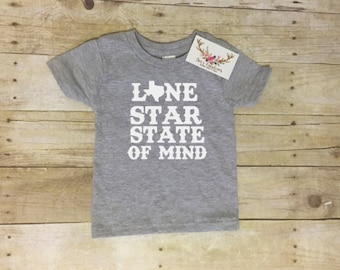 Texas Lone Star State of Mind - Infant/Toddler/Youth T-Shirt