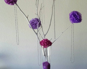 Set of 4 Tree Branches for Centerpieces