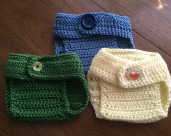 Newborn Set of 3 Diaper Covers