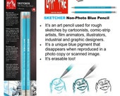 Caran Dache Sketcher Pencil Non Photocopy Blue Pencil Cartoon Faison Design Art