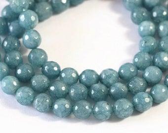 Faceted Aquamarine Gemstones, Loose Gemstone Beads, Natural Gemstones