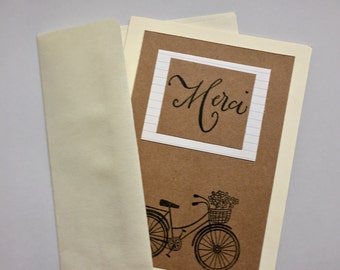 Handmade Bicycle Thank You Cards
