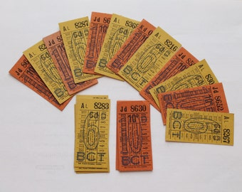 Vintage Bus Tickets. UK. 20. Free UK Postage!