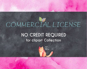 The Limited Commercial License NO Credit required for clipart COLLECTION