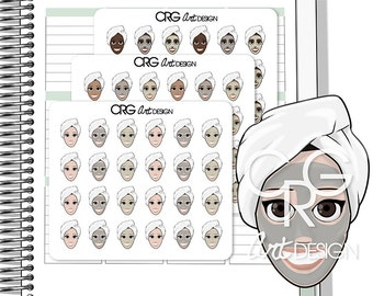 Face Mask / Spa Stickers | Planner Erin Condren Plum Planner Filofax Sticker