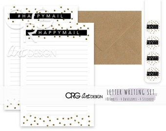 Happymail Letter Writing Set | Snailmail Penpals Stationery
