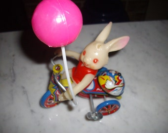 Vintage Windup Rabbit Toy