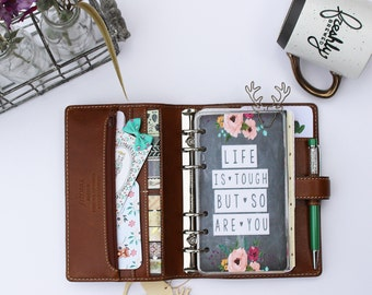 """Planner Dashboard: """"Life Is Tough"""", 10 Mil Laminated and Punched"""