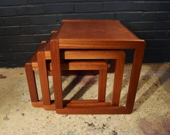 1970's teak nesting tables, great condition