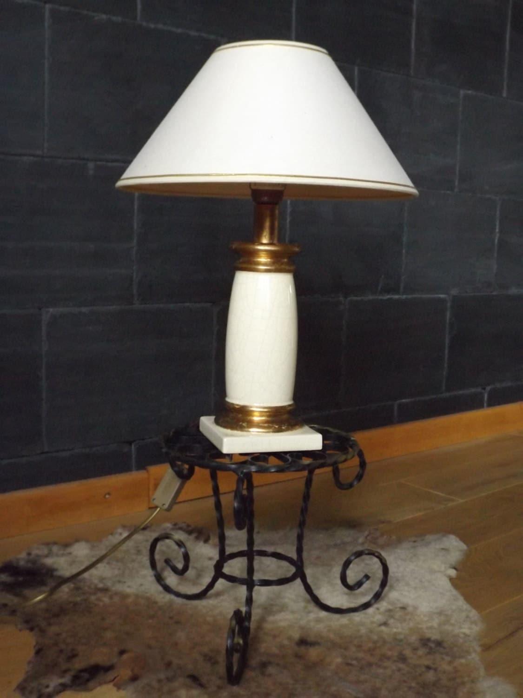 lampe le dauphin made in france vintage lampe poser en. Black Bedroom Furniture Sets. Home Design Ideas