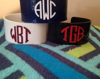 Cuff bracelets with monogram!