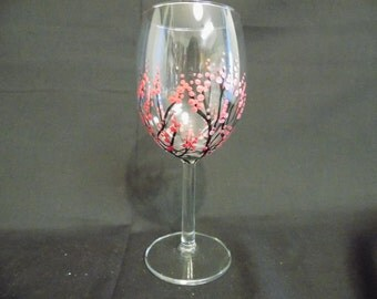 Hand Painted Wine Glasses (Multiple colors available) - Single