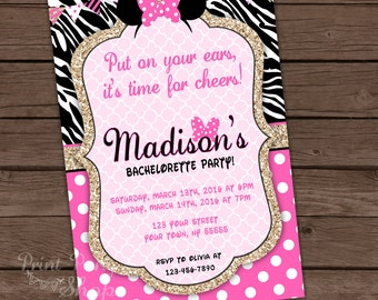 Bachelorette Invitation / Printable Invitation