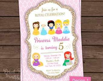 Princess Invitation Printable / Princess Party / Birthday Invitation