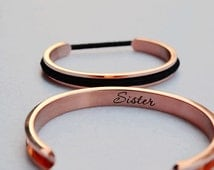 Hair tie Bracelet Holder Customized Engraved Hair Tie Bracelet Cuff Personalized Engraving Hair Tie Bangle Wedding Bridesmaid Gift