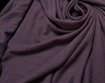 Raisin Brushed Hacci Knit