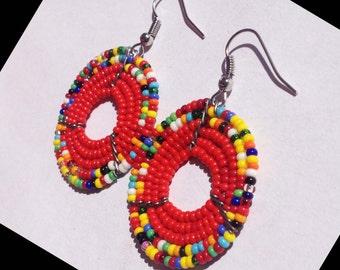 Multicolored Beaded Earrings