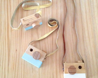 Handmade Wooden Camera Toy *different colours*