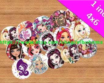 Ever after high bottle cap image ready to print  bottlecap