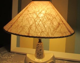 Light Pale pink fiberglass / VTG Fiberglass Lamp Shade VTG Retro Pink VINTAGE Pink Desk Lamp Lamp Pink