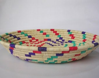 Woven Basket , Boho Basket, Home Decor, Home Art, Straw Bowl, Bowl, Straw Basket, Panier, Canasta, Cestas