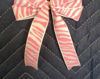 Zebra Print Bow