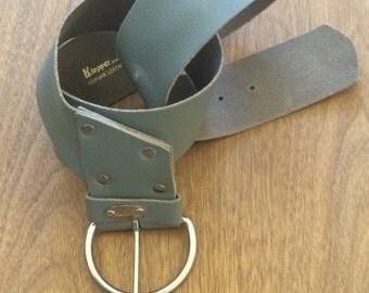Vintage Grey Leather Belt by Klepper for Kamron