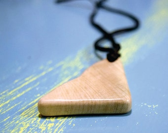 Mystery wood pendant necklace