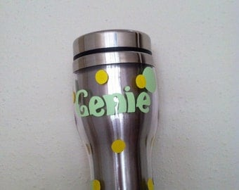 Personalized stainless steel travel coffee mugs