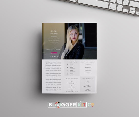 OnePage Media Kit Template  Press Kit Template  Electronic Press