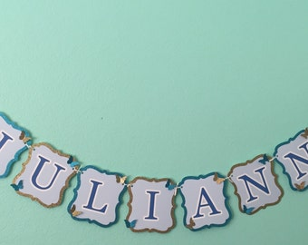 Butterfly princess name banner