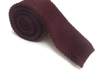 Vintage Skinny Knitted Tie