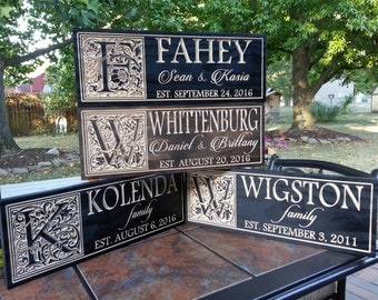 Custom wedding name sign wood, custom name sign, wood name sign, anniversary gift, wedding gift, gift for parents, Established sign