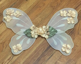 Gold fairy wings - Fairy costumes for toddlers - Ivory fairy wings - Sugar plum fairy costume - Ivory wedding wings - Flower girl accessory