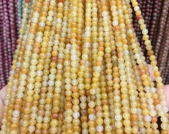 4mm Aragonite Gemstone Beads - 15inch Full strand - Round Gemstone Beads