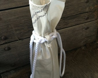 Wine Bag made from recycled sail material