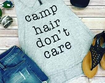 Camp Hair Don't Care Tank
