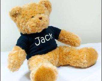 Personalised Name Teddy.Small,Medium,Large.Christening,New baby,Birthday Christmas