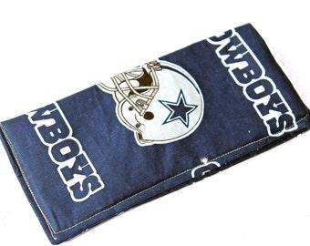 Dallas Cowboys Football Team, eyeglass case, Dallas  Cowboys Football sunglass case, Blue case, Lined Glass Case, padded case, cloth case