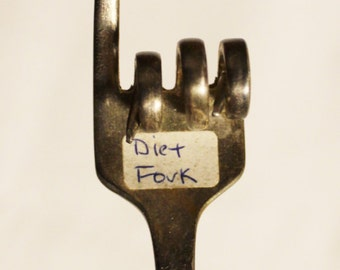 Vintage Diet Fork, Dieter Fork, Lose Weight Gift, Gag Gift, Dieter Gift