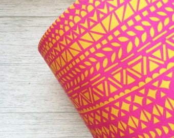 Pink and Yellow Abstract Geometric Lampshade
