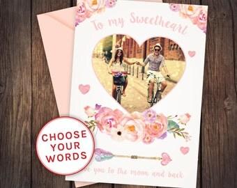 Valentine card, printable valentine card, funny valentine card, sweetheart valentines card, diy valentine, valentine photo card, funny card