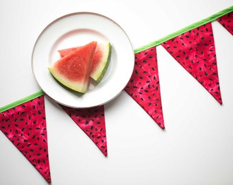 Watermelon Banner, Summer Banner, Picnic Banner