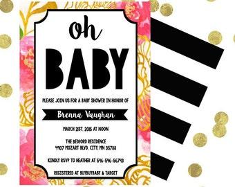 oh BABY! Baby Shower Invitation