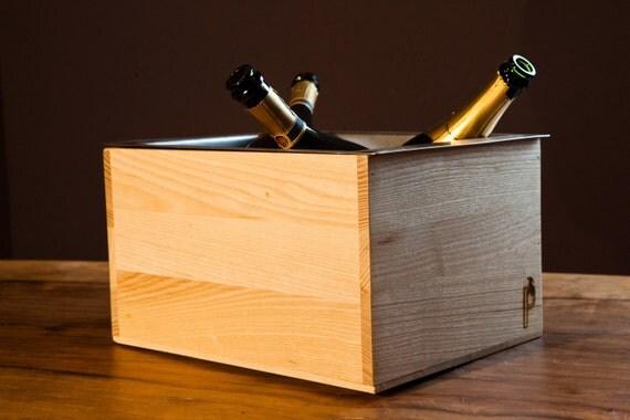 Glacette porta bottiglie in legno - Porta vino legno ...
