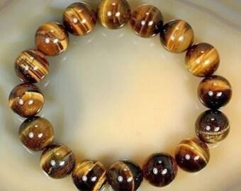 Natrual African tiger eye beaded bracelet
